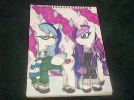 Hipster Sapphire and Rarity by Animechristy