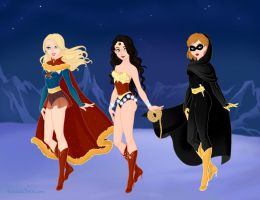 Female Superheroes, Snow Queen Edition by lyndsiek2009