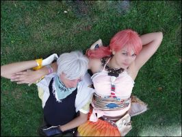 Resting - Hope and Vanille - FFXIII - by Thara-Wood