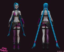 Jinx the loose cannon front by Azraele