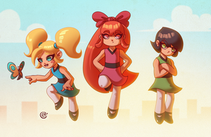 Power-Puff-Girls by redeve