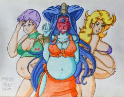 [Request] Dragon Ball Pregnant Bad Girls by JAM4077