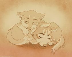 Daily Pic 10/12/14: Sleepy kids by Plaguedog