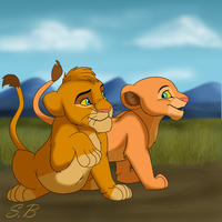 Tojo and Nala by sbrigs