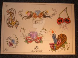 flash set 1 no6 by willowtreetattoos