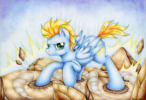 :com: shattering landing by Evomanaphy