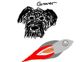 Grover and a Rocketship by SickSean