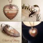 Heart of Mary Necklace by popnicute