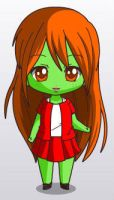 Miss Martain  Chibi Two. by youngjusticewriter