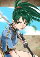 Fire Emblem 7 - Lady Lyndis by polarityplus