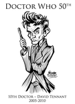Doctor Who 10th Doctor David Tennant by SouthParkTaoist