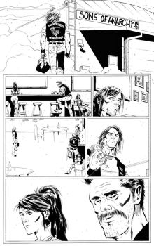 sons of anarchy comic page by BrentMcKee