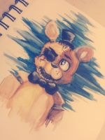-Five Nights At Freddy's- Half golden by Renvae