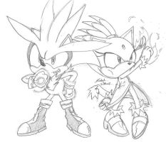 Silver and Blaze-Sonic X Style by Sonickitn