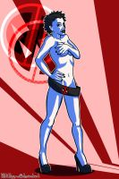 Domino presenting Deadpools fancloth for women by KittiNygma