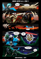 DU: HEROES UNITED PAGE 3-4 by VexusVersion
