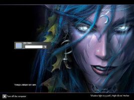 NightElf logon screen by AzureShadowchild