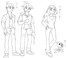 PvZ Human characters in Casual wear (unfinished) by Magicwaterz16