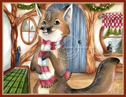 Gray Fox's Scarf by Tsuchan