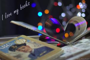 I love my books by Vincent-Malcolm