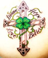 Celtic Cross Tattoo by americanlauren