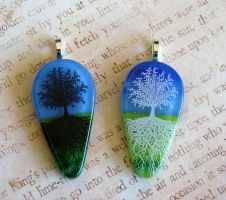Bright Day Glass Tree of Life by FusedElegance