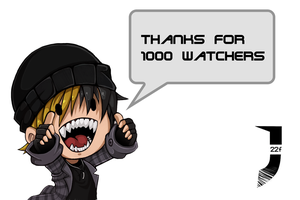 1000 watchers thanks by julif-art