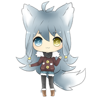 Arctic wolf OC: Snowy by FedeMidnight