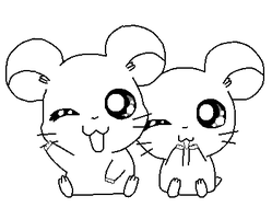 Cute Hamtaro Couple base by MimiTheFox