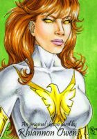 White Phoenix Sketch Card '09 by Dangerous-Beauty778
