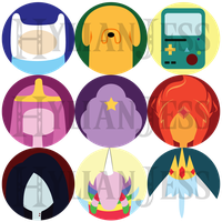 Adventure Time 1 Inch Buttons DISCONTINUED by HylianJess