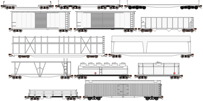 Classic US freight cars Extension Pack 2 by RyanBrony765