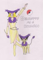 delcatty as human by achujaps