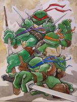 Teenage Mutant Ninja Turtles by mjfletcher