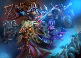 Pentakill Band (League of Legends) by Omikron74