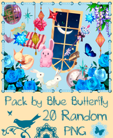 Pack by Blue Butterfly PNG 20 #2 by Butterfly-Blue-B