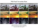 PSD Pack 'November rain' by Heavensinyoureyes