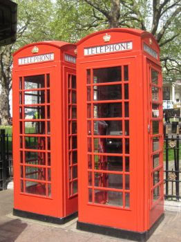 Red Telephone Boxes by SlidingWingz