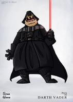 Pete as Darth Vader by SillyNate
