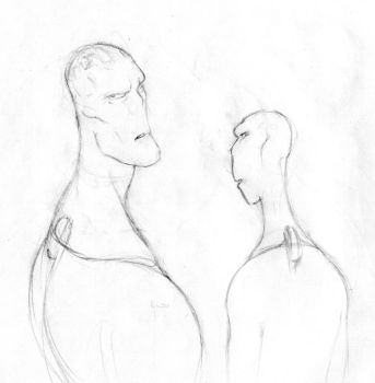 Two Aliens sketch by abdollah4ever