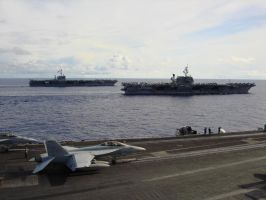 Three aircraft carriers by NavJAG