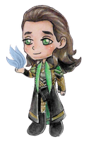 Chibi Loki by frozen-cherries