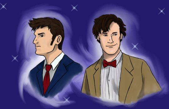 Doctor Who 10 and 11 by nimtaril