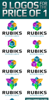 Rubiks Cubes Logo Creator Template by xstortionist