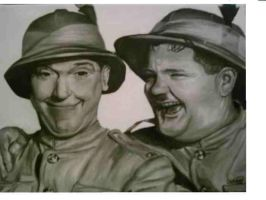 Laurel and Hardy by D-mQuick