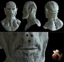 Alien Head Sculpt by spybg