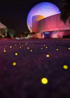 Spaceship Earth Bokeh by shaderf