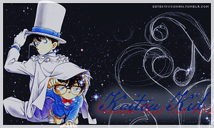 Kaitou Kid and Conan Edogawa by buhbiel