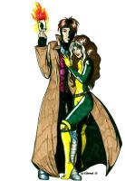 Rogue and Gambit by lupies