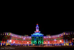 Christmas Lights - Denver City and County Building by JOSheaIV